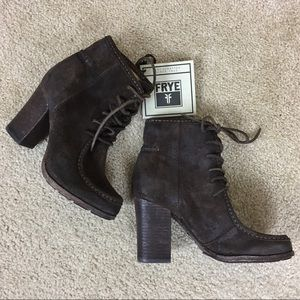 NWT Frye Brown Parker Moc Short Booties Size 6M
